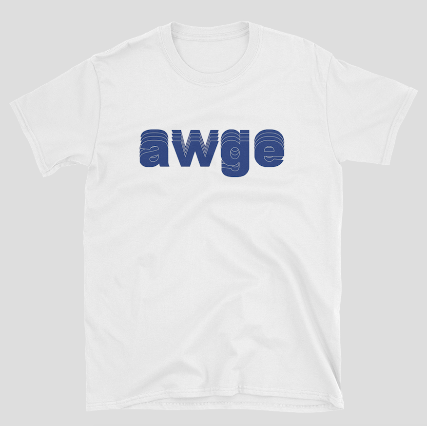 AWGE or Nothing T-shirt S-3XL White Blue Asap Rocky A$AP image