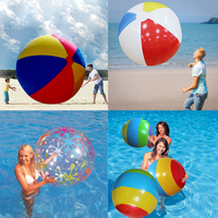 85cm/90cm/107/130cm Giant Colorful Water Balloons Inflatable Volleyball Beach Ball Kids Adult Pool Plaything Outdoor Family Toy