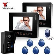 Yobang Security 9″ TFT LCD Screen Video Door Phone With RFID Access Door Camera 16 Kinds Of Doorbell Rings Door Intercom