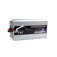 Carsun 2000 Вт Чистая Синусоидальная волна Usb для Dc 12 В/24 В/48 В к Ac 110 В/220 В солнечной энергии инвертор для пика 50 Гц/60 Гц для лодки/ТВ