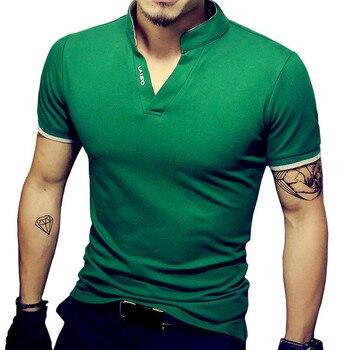 Мужская футболка-поло, хлопковая, с коротким рукавом, большого размера, черного и белого цвета, 2020