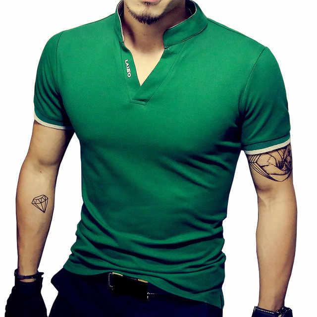 2019 Новое поступление хлопок мужская рубашка Поло Топы модный бренд плюс размер короткий рукав черная футболка поло белого цвета Homme Camisa 5XL