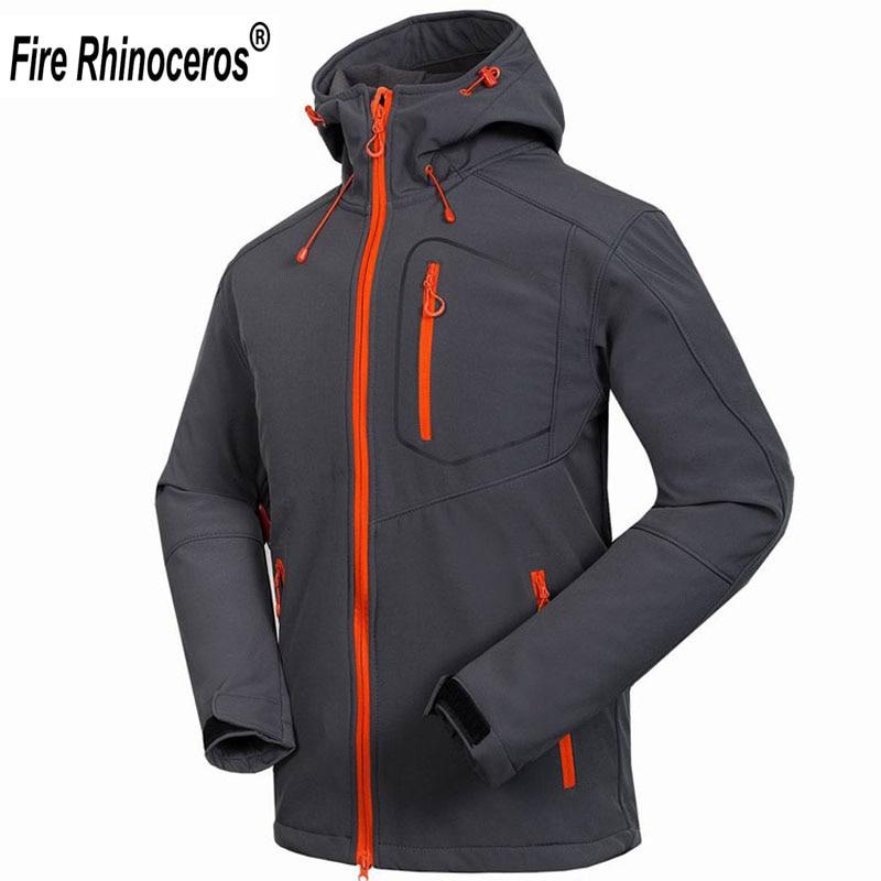 Veste Softshell pour hommes tout neuf coupe-vent imperméable vestes de randonnée en plein air épais manteaux d'hiver Trekking Camping Ski RM033