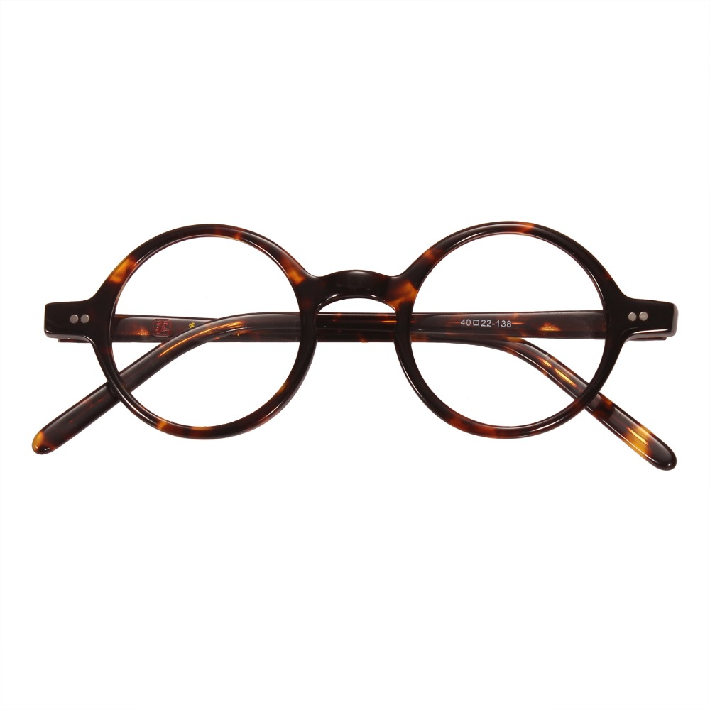 42mm Size Retro Vintage Eyeglass Frame Glasses Harry Potter Style Kacamata Lenon Metal Black Agstum 40 Mm 44 Antique Round Leopard Tortoise Shell Bingkai