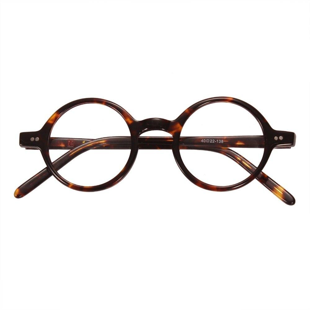 d3264c69a7a Agstum 40mm ~44 mm Antique Round Harry Potter Vintage Retro Leopard  Tortoise shell Eyeglass Frame