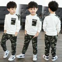 Jungen Kleidung Frühling/Herbst Camouflage Sets 2018 Kinder Kinder Camouflage Set Jungen Sport Zwei Stück 4-12Y Militär Uniform Anzüge
