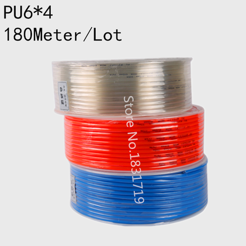 цены 180M/Lot PU6x4 6mm OD 4mm ID Pneumatic PU Tube Hose PU6*4