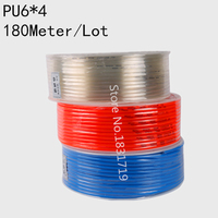 180M/Lot PU6x4 6mm OD 4mm ID Pneumatic PU Tube Hose PU6*4