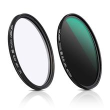 K&F Concept 37/40.5/43/62/67/82mm Filter Kit Neutral Density ND1000 CPL Polarizer for Cameras W/ Multi Layer Nano Coated