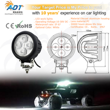 1pcs 10-60V DC 40W 4* Crees led Flood beam 4.7 inch led work light lamp for fire engine, road-side rescue vehicle, lorry, truck