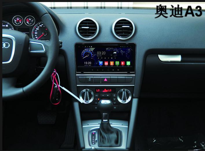 CHOGATH 9 ''Quad Core 1G RAM Android 8.0 lecteur de Navigation GPS autoradio pour Audi A3 2008 support SWC, wifi