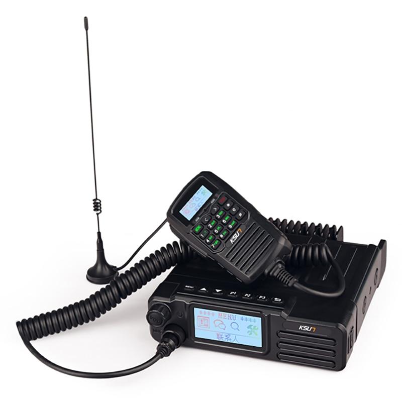 NEWEST  KSUN 50W/40W Dual Band Vhf&uhf Car Radio Gps Control  Dual Mode Car Station National Intercom +50W High Power Car Radio