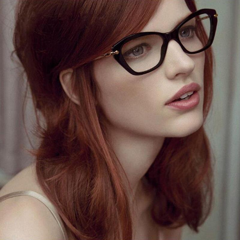 eyeglasses designer jgev  Fashion Women Cat's Eye Glasses Brand Designer Frames Clear Lens Eyeglasses  Frame Women oculos de grau