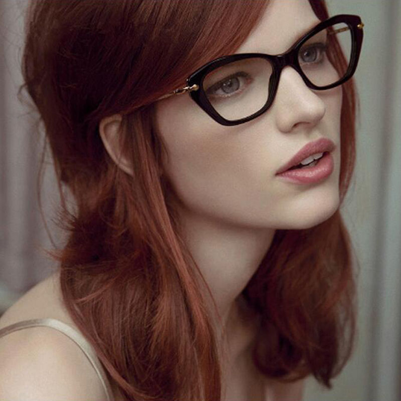 fashion women cats eye glasses brand designer frames clear lens eyeglasses frame women oculos de grau