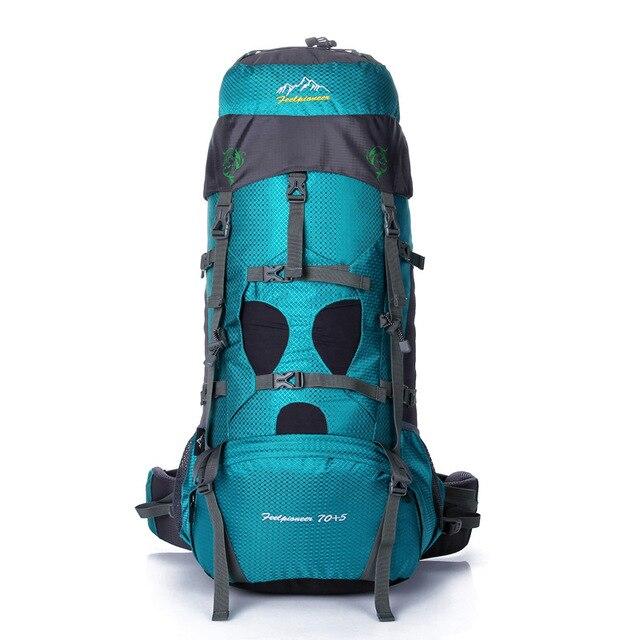 Prix pour Grande capacité 75L Camping En Plein Air Randonnée sac à dos professionnel Escalade Sacs alpinisme sac vlsivery voyage sac de sport