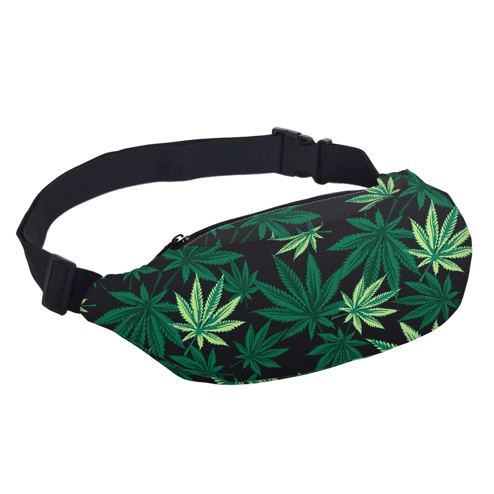 Cannabis Leaves Waterproof Waist Bags Bags Best Deals