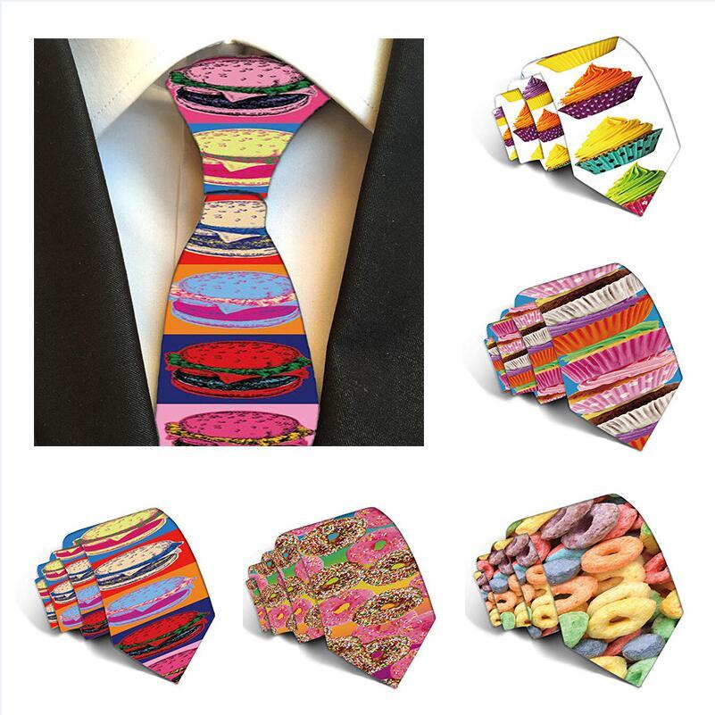 2019 New Polyester 8cm Ties For Men Neckties Slim Ties Printed Mens Necktie Gravata Cravate   Party Wedding Accessories 5S-LD06