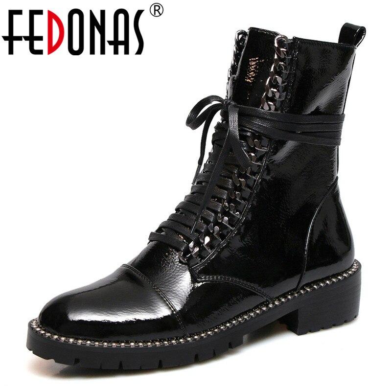 Ayakk.'ten Ayak Bileği Çizmeler'de FEDONAS 2020 Sonbahar Kış sıcak Kadınlar Diz Çizmeler Üzerinde Inek Rugan Örgü Uzun Çizmeler binici çizmeleri parti ayakkabıları Kadın'da  Grup 1