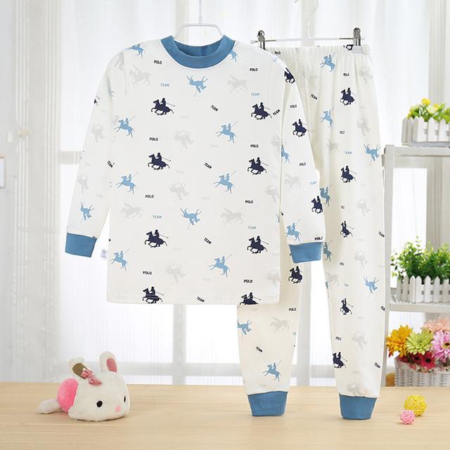 Conjuntos de pijama Pijamas crianças juventude meninos impressão T-shirt + calças ternos Crianças de Pijama pijama de Algodão set 5Y-13Y penteado algodão