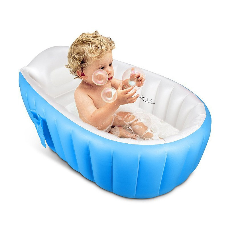 New Kids Large Inflatable Bathtub for Babies Bath Bucket Baby Swim ...
