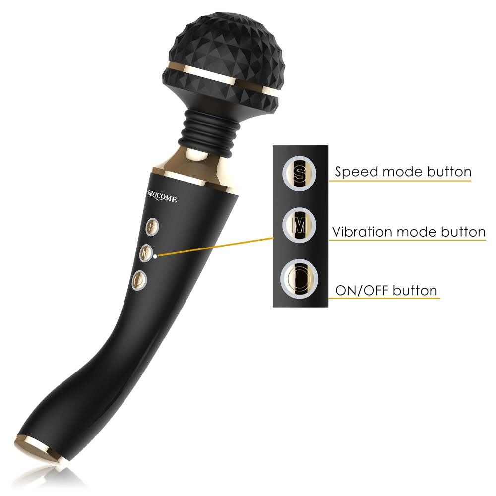 Multispeed Rechargeable AV Magic Wand Vibrator Sex Toys for Woman Sex Massage G Spot Vibrators for