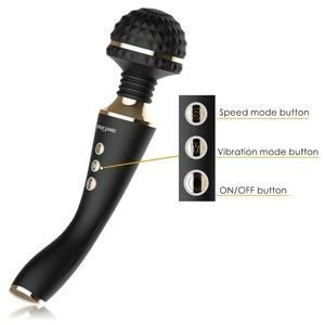 Multispeed Rechargeable AV Magic Wand Vibrator Sex Toys for Woman Sex Massage G Spot Vibrators for Women Adult Sex Machine Shop