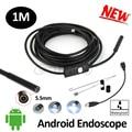 Micro usb 5.5mm lente câmera endoscópio 1 m usb mini câmera endoscópio 6led android smart telefone android otg usb borescope cmaera