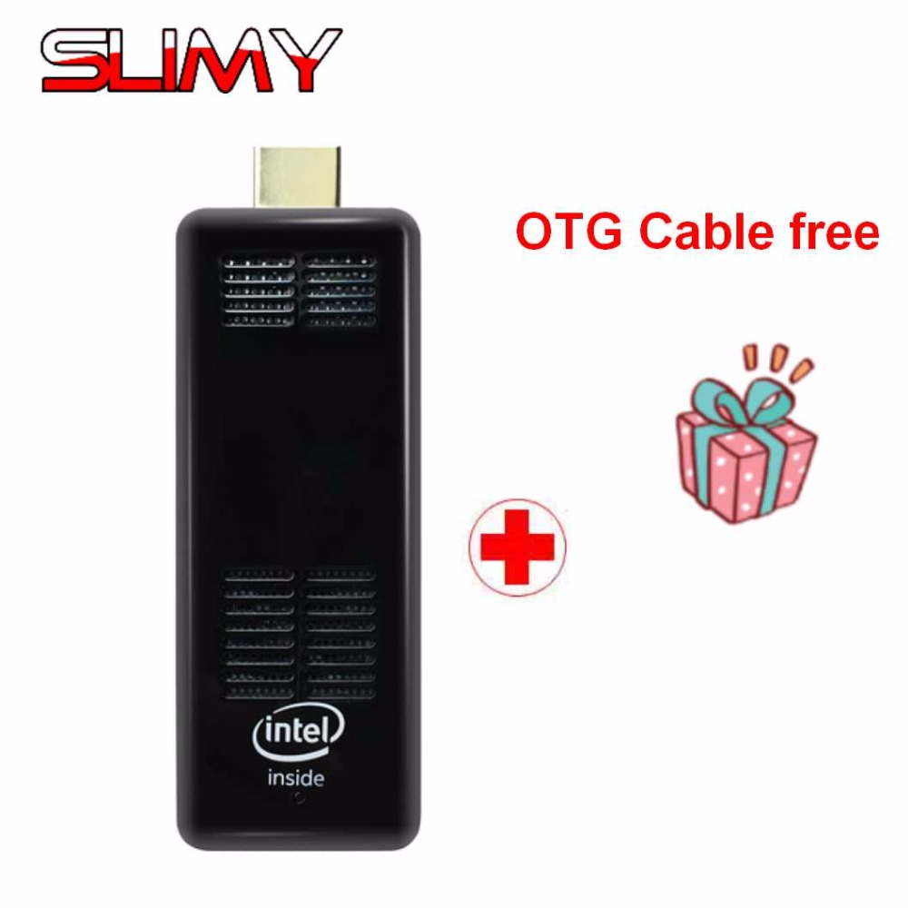 Slimy New Windows 10 Mini PC with Intel Z8350  Quad Core 2GB DDR3 RAM 32GB eMMC Bluetooth 4.0 HD Graphics HDMI Pocket TV BOX new 10 8 inch 1920 1280 pipo x10 mini pc windows 10 tv box z8300 quad core 4g ram 64g rom hdmi media box bluetooth win10