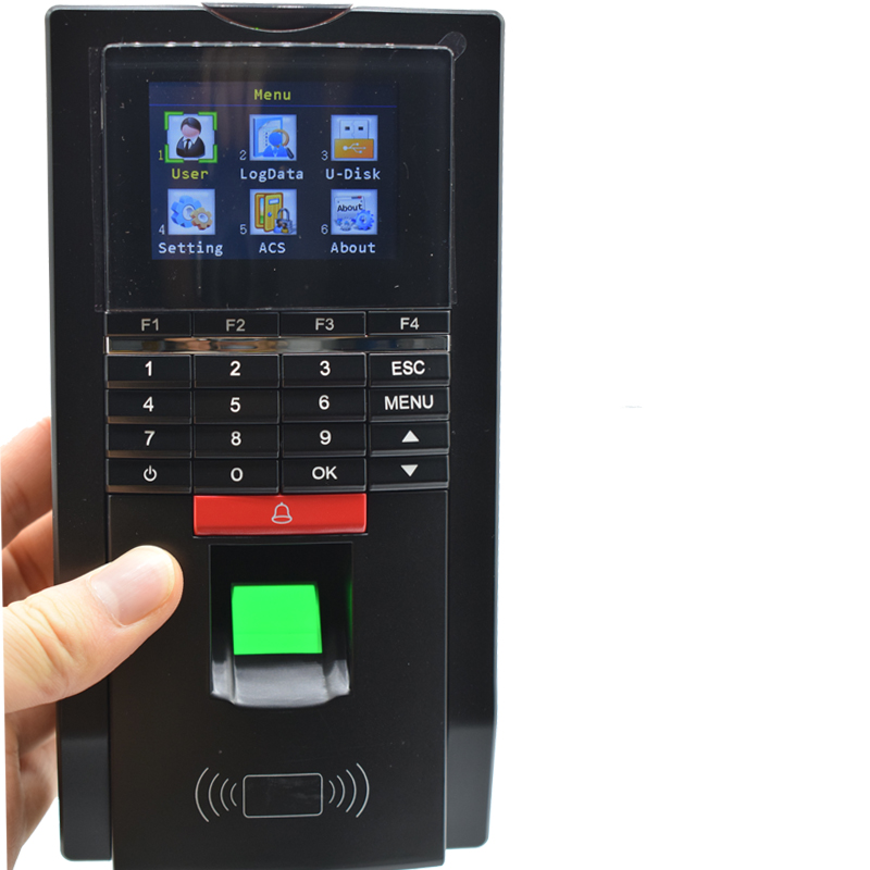 Office Factory School Use Password Fingerprint Time Attendance TCP/IP Time Recorder 125KHZ Rfid USB Wiegand Access Control tcp ip fingerprint time attendance color screen 2000 user time attendance fingerprint password rfid card time atteendance