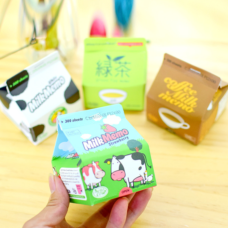 230 Pcs/lot Portable Thicken Milk Box Series Memo Pad Paper Bookmark School Office Stationery Supply