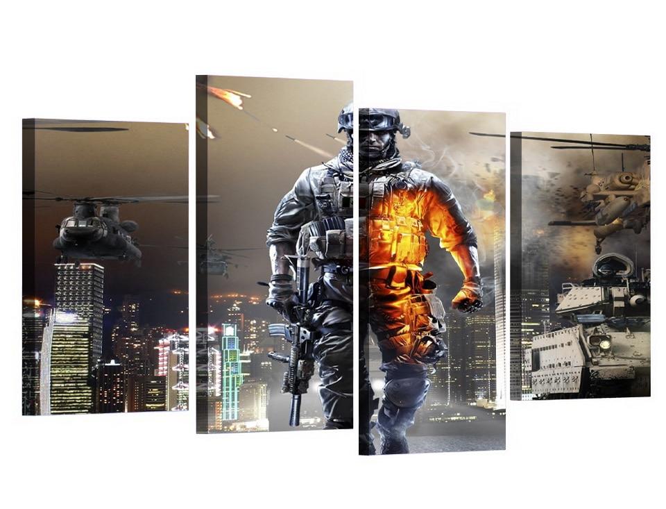 4 Teile/satz Gerahmte HD Gedruckt Battlefield Military Film Bild ...