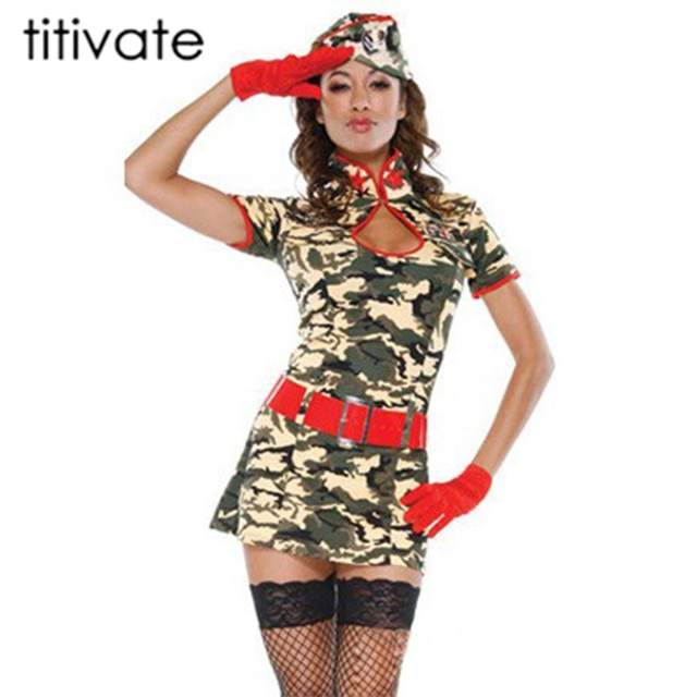 titivate sexy women army uniform costume sexy party costumes soldier women camouflage halloween costumes for adult