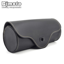 Bjmoto Universal Motorcycle Saddle Bags Motorbike Side Tail Bag Luggage for harley motorcross