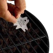 Нержавеющая сталь silverпрактичный скребок для решетки для гриля портативный инструмент для чистки барбекю легко чистить не выцветает нетоксичный инструмент для очистки