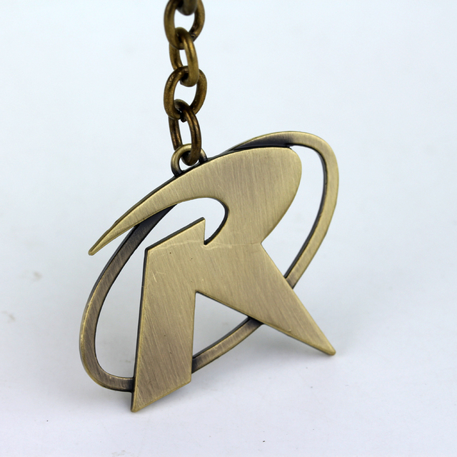Movie Batman Robin R Mark Logo Keychain Superhero Metal Key Ring
