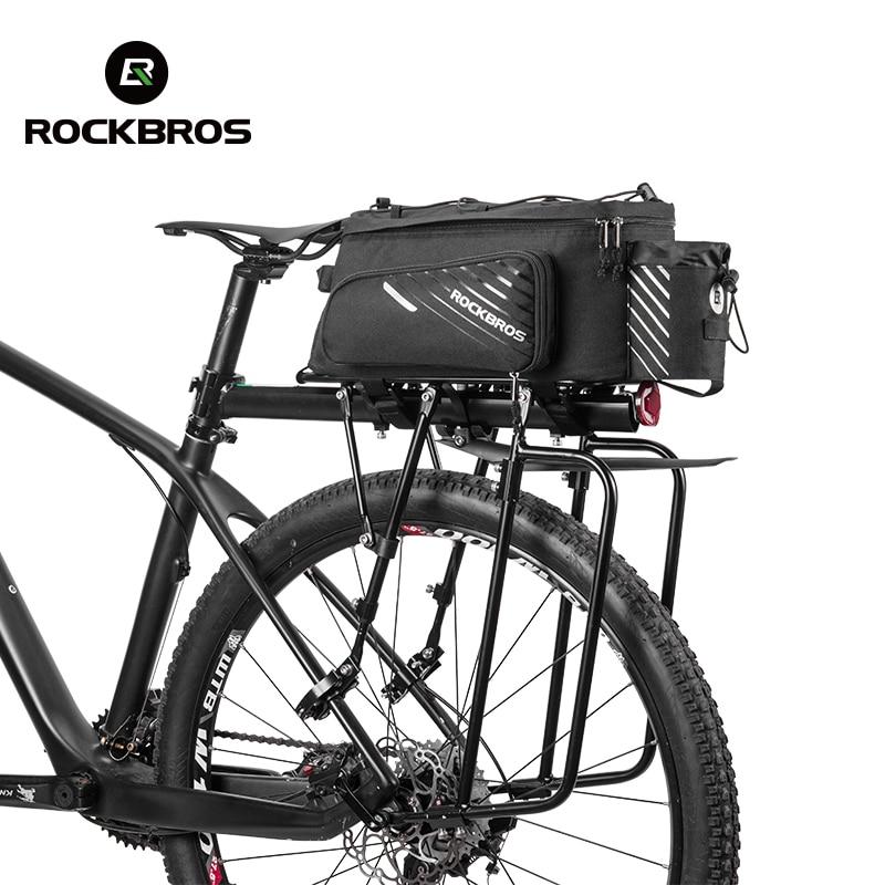 ROCKBROS Bicycle Bag Rear Carrier Pack Trunk Pannier Extended Nylon Bag Black
