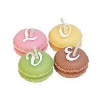 4 Sztuk/pudło Macaron Zapachowe Świece Świeca Bezdymnego MIŁOŚĆ Spowiedzi Babyshower Chrzest Party Favor Wedding Cake Topper Dekoracji