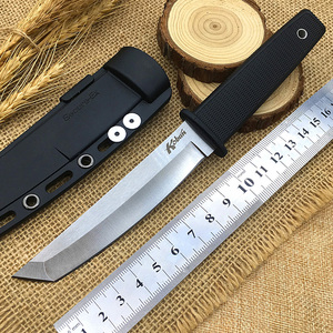Hot tanto Hunting Knife Diving Tactical Fixed Blade Knives Cold stainless steel Kobun blade ABS Secure-Ex Sheath EDC Boot tools(China)