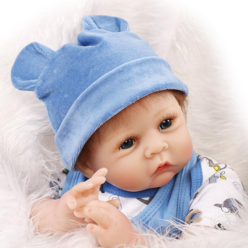 "20"" Real Reborn Babies Silicone Reborn Dolls for Girls Children"