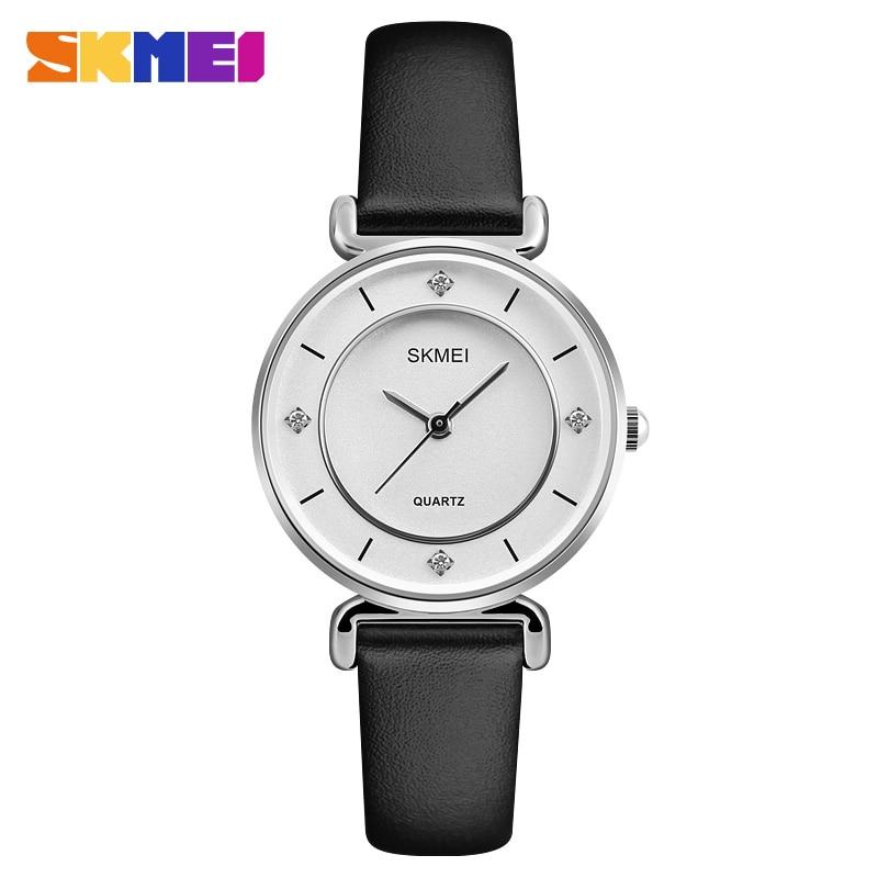 SKMEI Women Quartz Watch Fashion Leather Strap Ladies Waterproof Clock Wristwatch Female Watches Top Brand Relogio Feminino 1330 цена