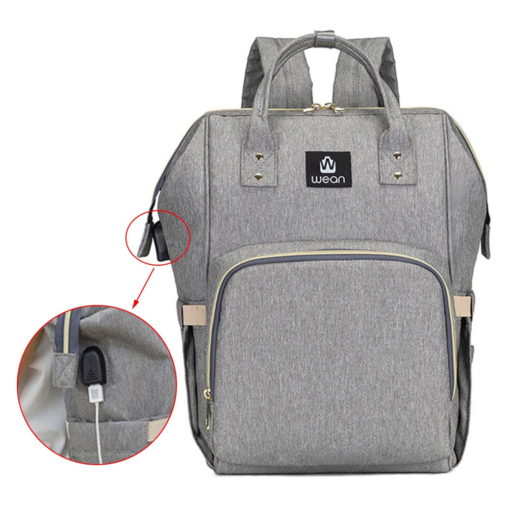 Diaper Bag With USB Interface Large Nappy Bag Fashion Waterproof Mummy Bags Maternity Travel Backpack Nursing Handbag for MomDiaper Bag With USB Interface Large Nappy Bag Fashion Waterproof Mummy Bags Maternity Travel Backpack Nursing Handbag for Mom