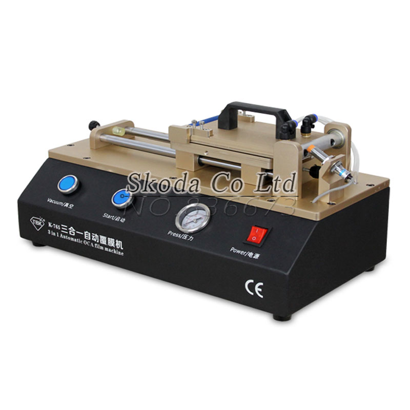 3-in-1 Automatic OCA Film Laminating Machine With Built-in Vacuum Pump and Air Compressor For LCD Screen Repair 7inch ko no 1 mt 07 universal 12inch ft 12 oca film lamination machine need air compressor and vacuum pump bubble remover