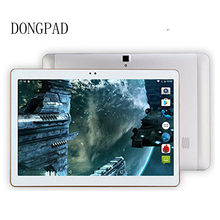 DONGPAD 4G Lte Tablet Android 6.0 32GB ROM 5MP and Dual SIM OTG WIFI GPS bluetooth phone Tablette PC Computer