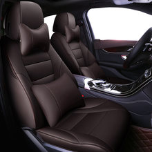 Auto Universal Cowhide leather seat cover For Audi A6L Q3 Q5 Q7 S4 A5 A1 A2 A3 A4 B6 b8 B7 A6 c6 A7 A8 accessories car styling(China)