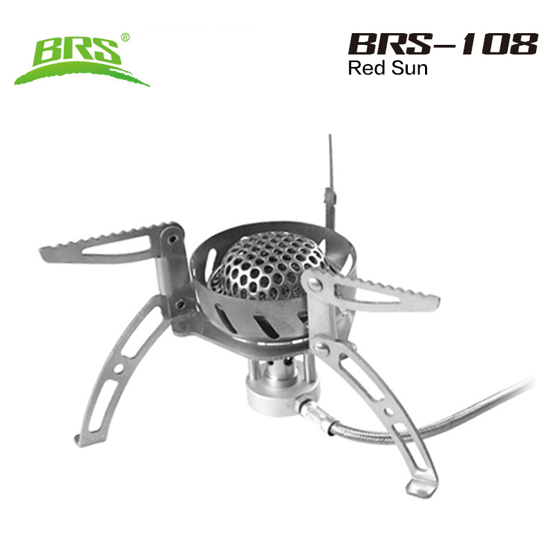 ФОТО BRS stove outdoor kocher camping gas stove Big Power portable backpack windproof stove outdoor gas cooking Travel burners
