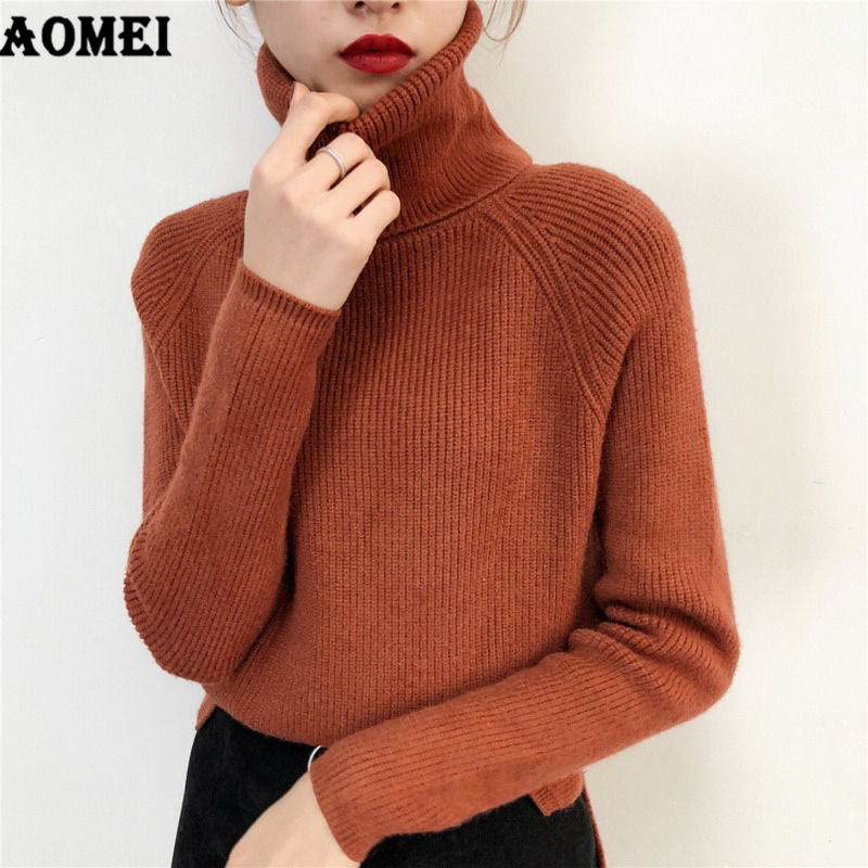 Women Korean Sweaters Long Sleeve Casual Women Knit Tops