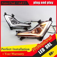 Auto Clud Car Styling For Hyundai Elantra LED DRL For Elantra Led Fog Lamps Daytime Running