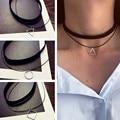 Многослойные Чокеры Ожерелья Для Женщин Треугольник Круг Геометрическая Ожерелье Collares Ювелирные Изделия Bijoux Colar
