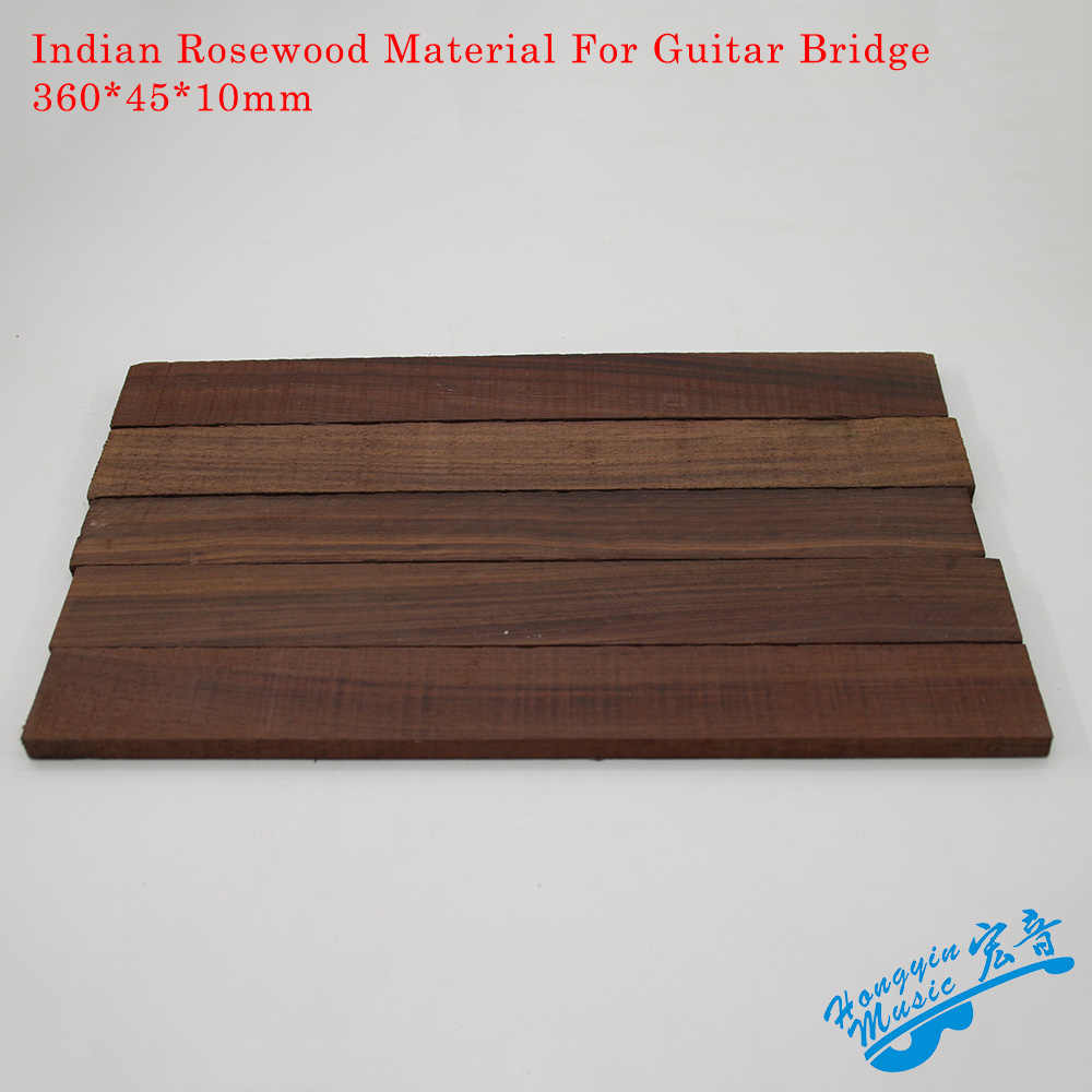 High Quality Indian Rosewood Material For Guitar Bridge Handmade Guitar Accessories Raw Materials 360*45*10mm