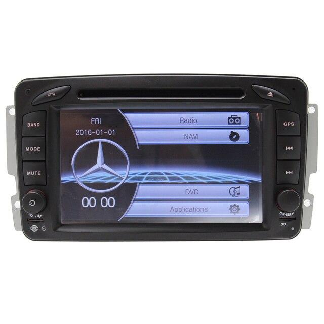 Wince6.0 doble din Para Mercedes/W209/W203/W168/M//Vito Vaneo GPS BT de Radio FM AM función DVD CD REPRODUCTOR de DVD DEL COCHE Que Invierte La Cámara